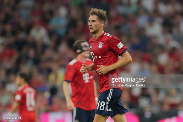 Leon Goretzka of Bayern Muenchen looks on during the preseason friendly match between Bayern Munich and Manchester United at Allianz Arena on August...
