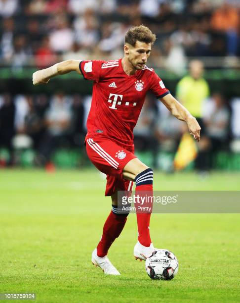 Leon Goretzka of Bayern Munich controls the ball during the DFL Supercup 2018 match between Eintracht Frankfurt and Bayern Muenchen at...