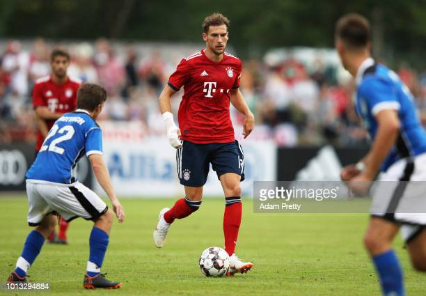 Leon Goretzka of Bayern Munich controls the ball during the PreSeason Friendly match between SV RottachEgern and FC Bayern Muenchen on August 8 2018...