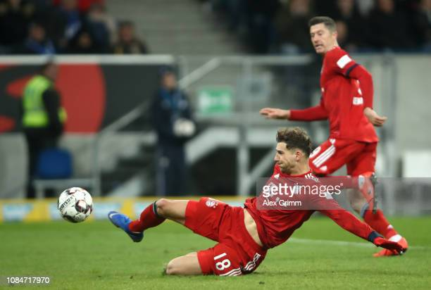 Leon Goretzka of Bayern Munich scores the 2nd goal during the Bundesliga match between TSG 1899 Hoffenheim and FC Bayern Muenchen at Wirsol...