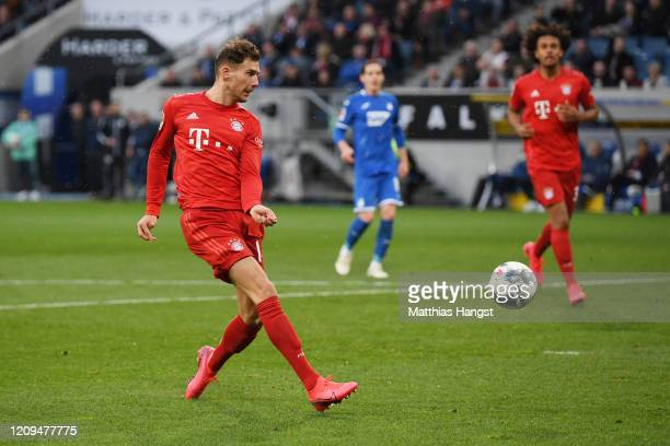 Leon Goretzka of Bayern Munich socres his sides sixth goal during the Bundesliga match between TSG 1899 Hoffenheim and FC Bayern Muenchen at...
