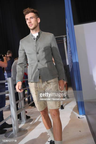 Leon Goretzka of FC Bayern Muenchen arrives for the FC Bayern Muenchen and Paulaner Photo Session at FGV Schmidtle Studios on September 2 2018 in...