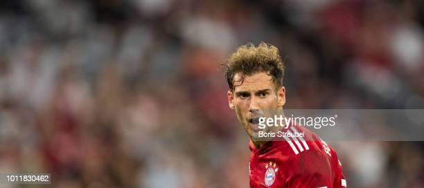 Leon Goretzka of FC Bayern Muenchen reacts during the friendly match between Bayern Muenchen and Manchester United at Allianz Arena on August 5 2018...