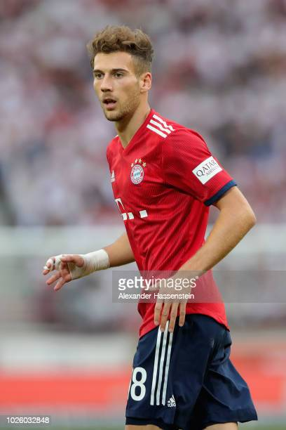 Leon Goretzka of FC Bayern Muenchen runs during the Bundesliga match between VfB Stuttgart and FC Bayern Muenchen at MercedesBenz Arena on September...