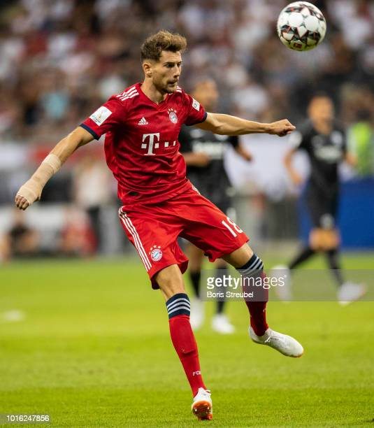 Leon Goretzka of FC Bayern Muenchen runs with the ball during the DFL Supercup 2018 match between Eintracht Frankfurt and Bayern Muenchen at...