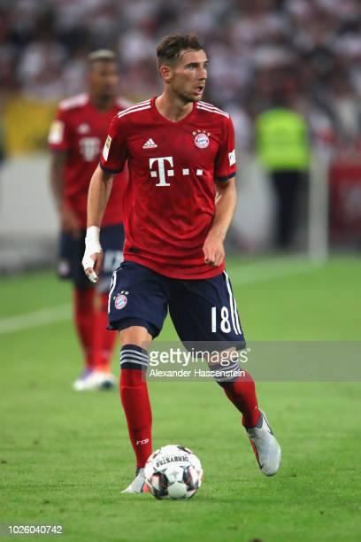 Leon Goretzka of FC Bayern Muenchen runs with the ball during the Bundesliga match between VfB Stuttgart and FC Bayern Muenchen at MercedesBenz Arena...