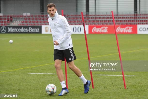 Leon Goretzka of Germany during a Germany training session at RB Leipzig Training Center on November 13 2018 in Leipzig Germany