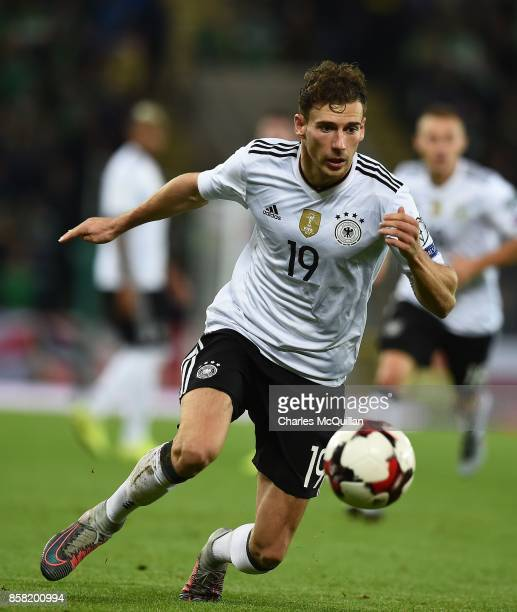 Leon Goretzka of Germany during the FIFA 2018 World Cup Qualifier between Northern Ireland and Germany at Windsor Park on October 5 2017 in Belfast...