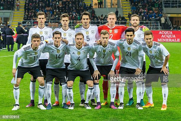 Leon Goretzka of Germany Julian Weigl of Germany Mats Hummels of Germany goalkeeper Bernd Leno of Germany Shkodran Mustafi of Germany unt Thomas...