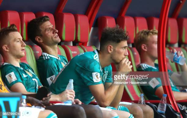 Leon Goretzka of Germany looks dejected following his sides defeat in the 2018 FIFA World Cup Russia group F match between Korea Republic and Germany...