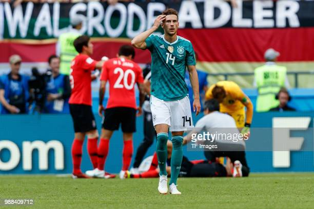 Leon Goretzka of Germany looks on during the 2018 FIFA World Cup Russia group F match between Korea Republic and Germany at Kazan Arena on June 27...