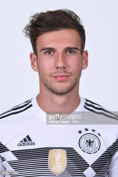 Leon Goretzka of Germany pose for a photo during the official FIFA World Cup 2018 portrait session on June 13 2018 in Moscow Russia