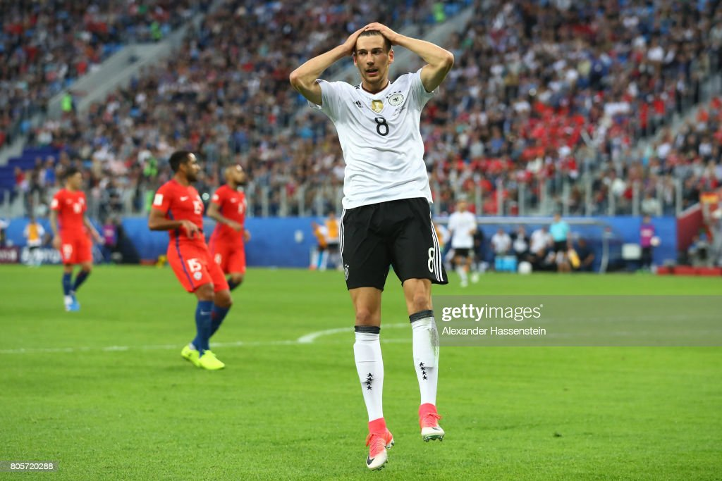 Leon Goretzka of Germany reacts during the FIFA Confederations Cup Russia 2017 Final between Chile and Germany at Saint Petersburg Stadium on July 2, 2017 in Saint Petersburg, Russia.