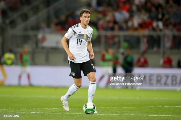 Leon Goretzka of Germany runs with the ball during the International Friendly match between Austria and Germany at Woerthersee Stadion on June 2 2018...