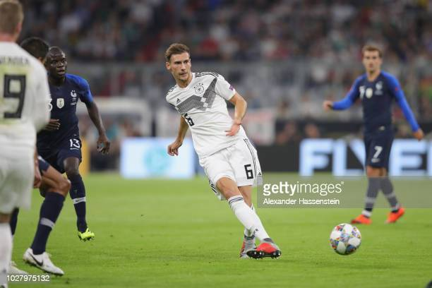 Leon Goretzka of Germany runs with the ball during the UEFA Nations League group A match between Germany and France at Allianz Arena on September 6...