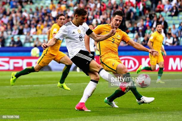 Leon Goretzka of Germany scores his side's third goal during the FIFA Confederations Cup Russia 2017 Group B match between Australia and Germany at...