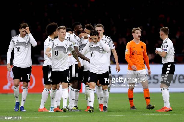 Leon Goretzka of Germany Toni Kroos of Germany Nico Schulz of Germany Frenkie de Jong of Holland Joshua Kimmich of Germany during the EURO Qualifier...