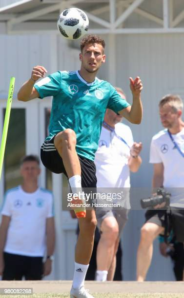 Leon Goretzka of Germany train to the Germany Training session at Park Arena training ground on June 21 2018 in Sochi Russia