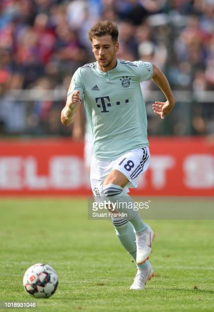 Leon Goretzka of Muenchen in action during the DFB Cup first round match between SV DrochtersenAssel and Bayern Muenchen on August 18 2018 in...