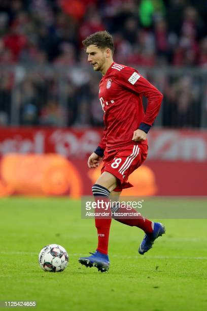 Leon Goretzka of Muenchen runs with the ball during the Bundesliga match between FC Bayern Muenchen and VfB Stuttgart at Allianz Arena on January 27...