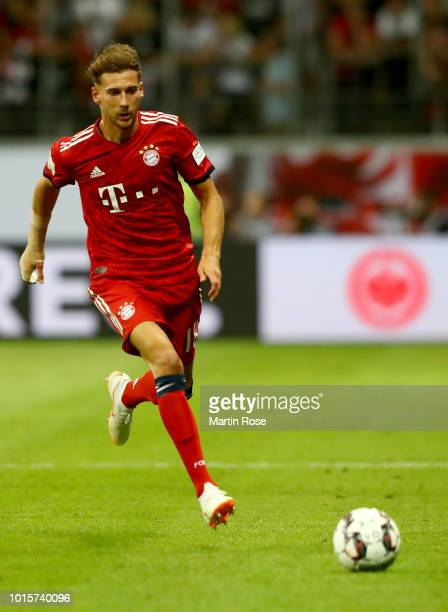 Leon Goretzka of Muenchen runs with the ball during the DFL Supercup 2018 between Eintracht Frankfurt and Bayern Muenchen at CommerzbankArena on...