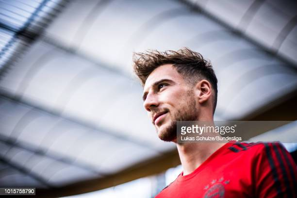 Leon Goretzka of Munich looks up prior to the DFL Supercup 2017 match between Eintracht Frankfurt and Bayern Muenchen at CommerzbankArena on August...