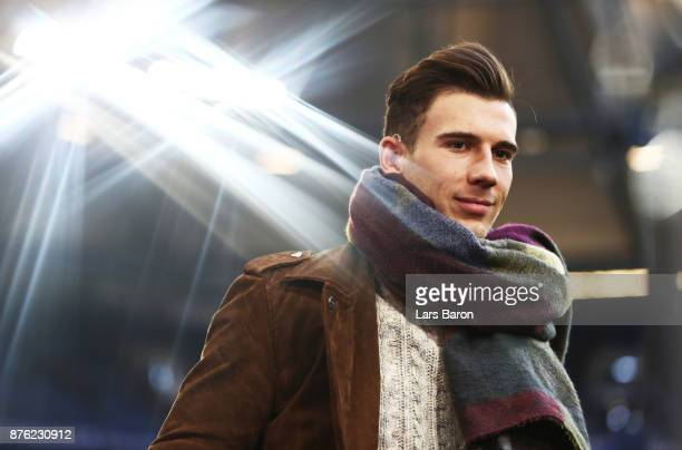 Leon Goretzka of Schalke 04 gives an interview before the Bundesliga match between FC Schalke 04 and Hamburger SV at VeltinsArena on November 19 2017...