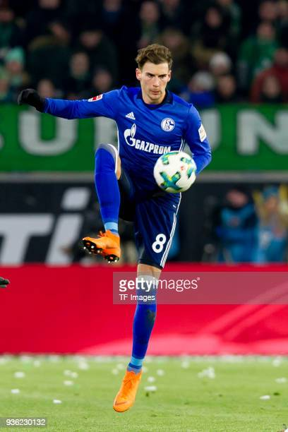 Leon Goretzka of Schalke controls the ball during the Bundesliga match between VfL Wolfsburg and FC Schalke 04 at Volkswagen Arena on March 17 2018...