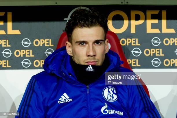 Leon Goretzka of Schalke looks on during the Bundesliga match between 1 FSV Mainz 05 and FC Schalke 04 at Opel Arena on March 9 2018 in Mainz Germany