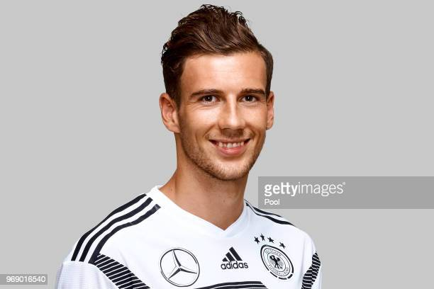 Leon Goretzka poses for a photo during a portrait session ahead of the 2018 FIFA World Cup Russia at Eppan training ground on June 5 2018 in Eppan...