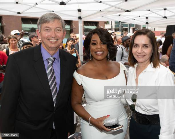 Leon Gubler Niecy Nash and Ana Martinez pose for a photo as Niecy Nash is honored with a Star On The Hollywood Walk Of Fame on July 11 2018 in...
