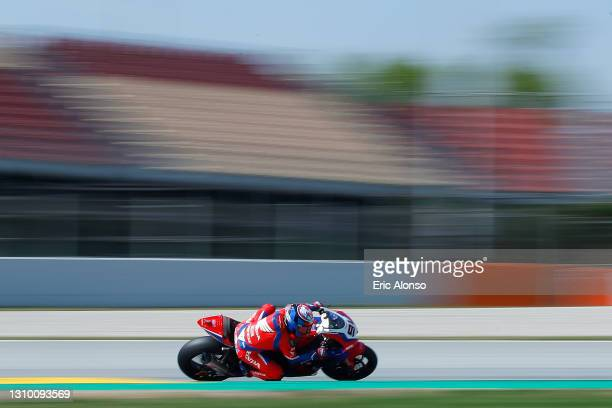 Leon Haslam of Great Britain and Team HRC in action during the day one of the World Superbike testing at Circuit de Barcelona-Catalunya on March 31,...