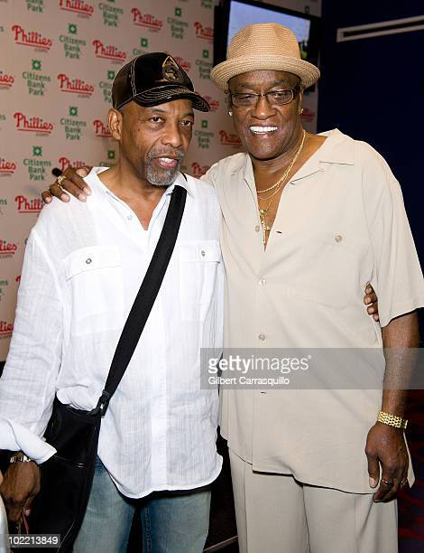 Leon Huff and Billy Paul attend the 2010 Phillies Sound of Philadelphia Celebration at Citizens Bank Park on June 18 2010 in Philadelphia Pennsylvania