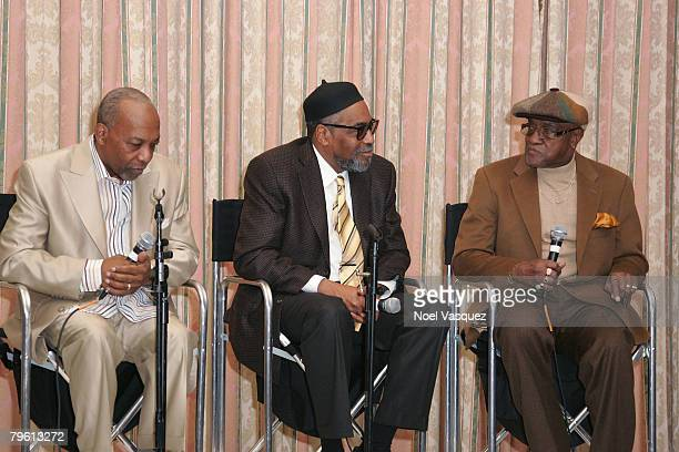 Leon Huff Kenneth Gamble and Billy Paul speak at the PreGRAMMY Party at the Four Seasons Hotel on February 6 2008 in Beverly Hills California