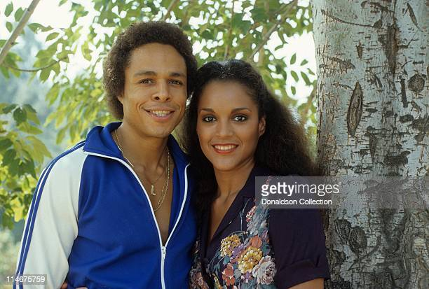 Leon Isaac Kennedy and wife Jayne Kennedy pose for a portrait in circa 1982 in Los Angeles California