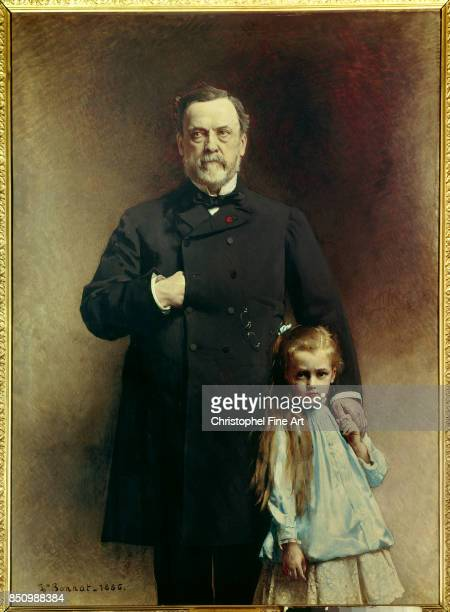 Leon Joseph Bonnat Portrait of Louis Pasteur and his GrandDaughter Camille ValleryRadot 1886 Paris Pasteur Museum
