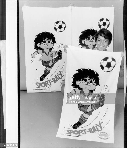 Leon Kantor 10 years with Soccer Towel March 08 1982