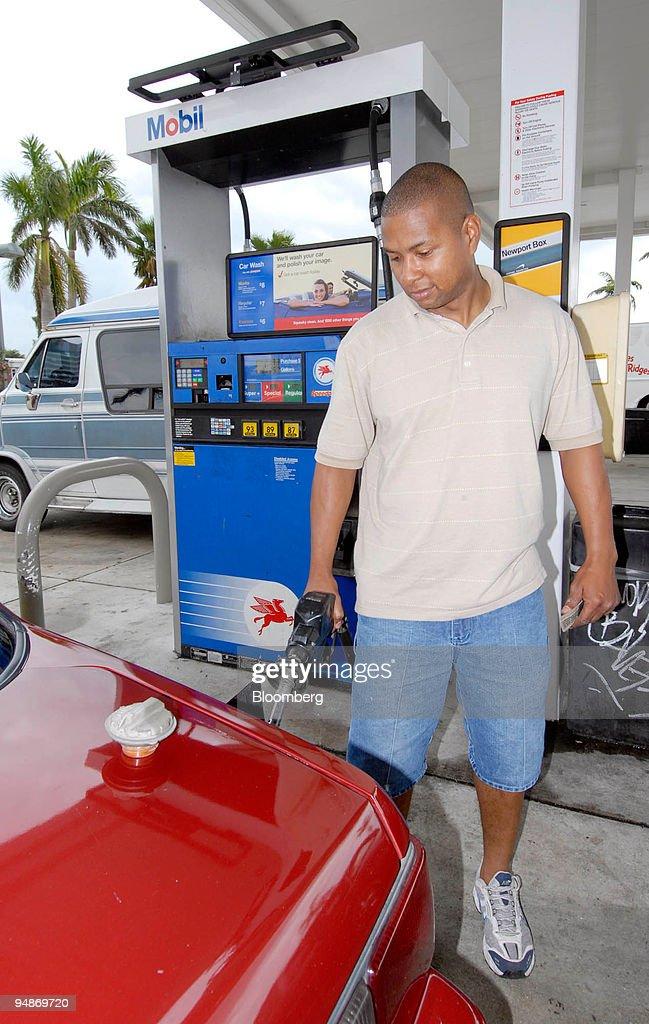 leon labeach pumps gasoline at a west palm beach florida mobil