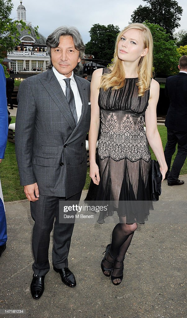 Leon Max (L) and Katia Elizarova attend The Serpentine Gallery Summer Party sponsored by Leon Max at The Serpentine Gallery on June 26, 2012 in London, England.