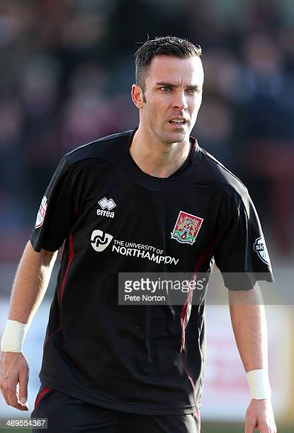 Leon McSweeney of Northampton Town in action during the Sky Bet League Two match between Fleetwood Town and Northampton Town at Highbury Stadium on...