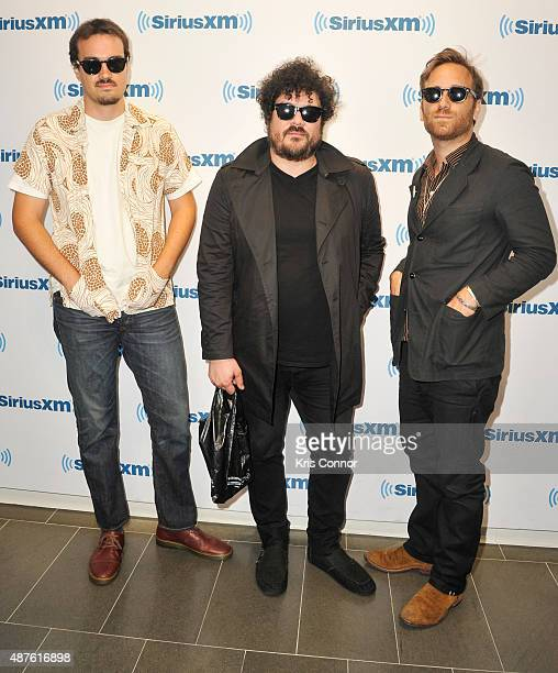 Leon Michels Richard Swift and Dan Auerbach of The Arcs perform at the SiriusXM Studios on September 10 2015 in New York City
