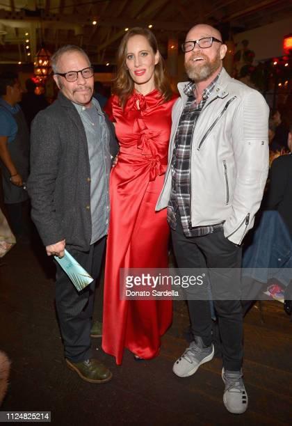 Leon Mostovoy Liz Goldwyn and Buck Angel attend Liz Goldwyn and MATCHESFASHIONCOM celebrate the launch of Frieze LA at Gracias Madre on February 13...