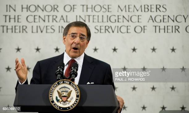 Leon Panetta speaks after a ceremonial swearingin as Central Intelligence Agency Director February 19 at CIA headquarters in Langley Virginia AFP...