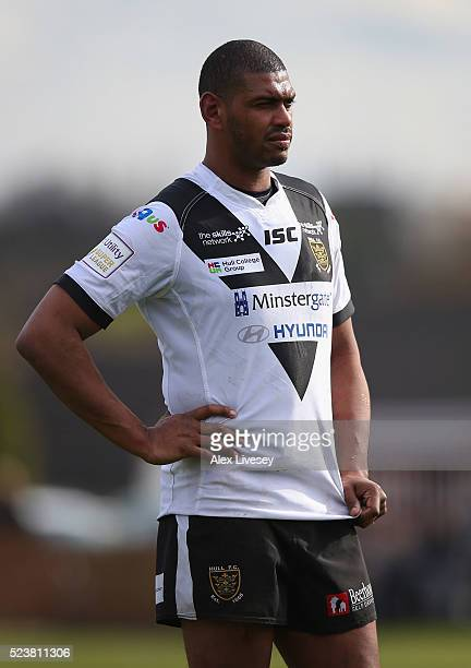 Leon Pryce of Hull FC looks on during the First Utility Super League match between Wakefield Wildcats and Hull FC at The Rapid Solicitors Stadium on...