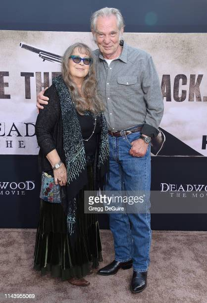 Leon Rippy and Carol Rippy arrive at the LA Premiere Of HBO's Deadwood at The Cinerama Dome on May 14 2019 in Los Angeles California