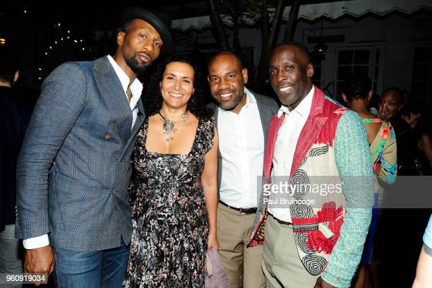 Leon Robinson Patricia Blanchet Unik and Michael K Williams attend OWN With The Cinema Society Host A Party For Ava DuVernay And Queen Sugar at...