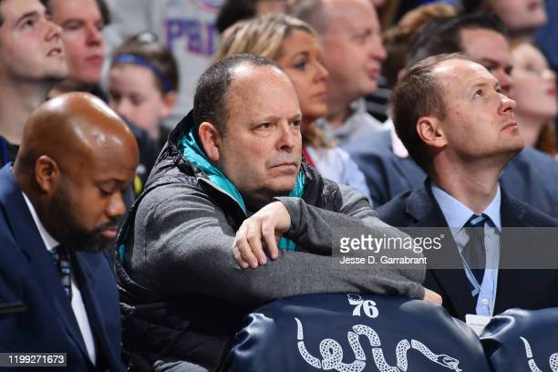 Leon Rose seen during the game between the Memphis Grizzlies and the Philadelphia 76ers on February 7 2020 at the Wells Fargo Center in Philadelphia...