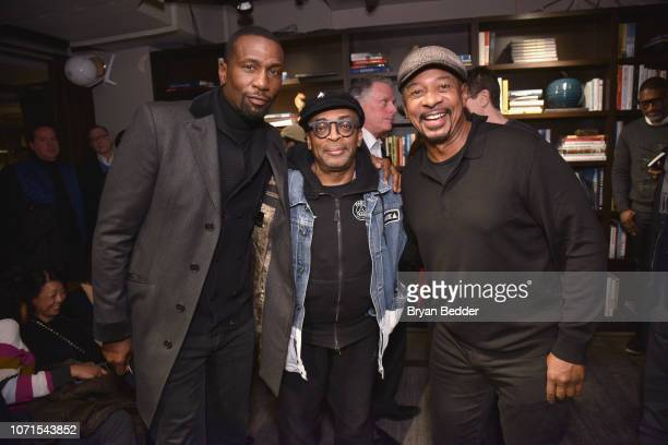 Leon Spike Lee and Robert Townsend attend the 'BlacKkKlansman' Tastemaker at Neuehouse on December 10 2018 in New York City