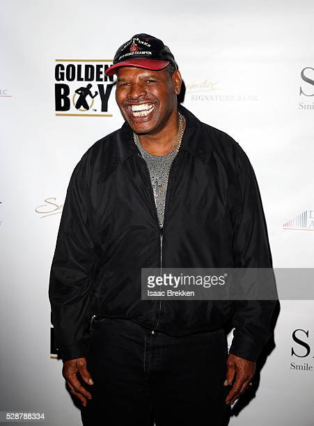 Leon Spinks arrives at Smile Design Gallery's The Art of Boxing event at Hakkasan Las Vegas Restaurant and Nightclub at MGM Grand Hotel Casino May 6...