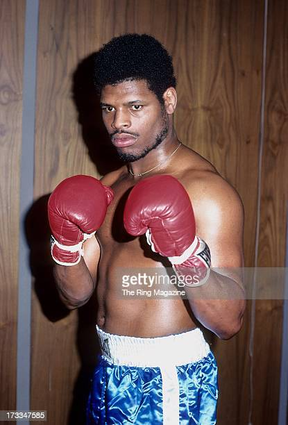 Leon Spinks poses during a training session for his upcoming fight against Muhammad Ali in New York